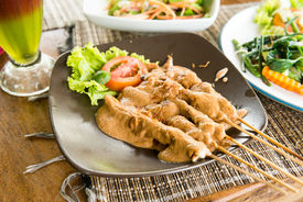 picture of sate  - Sate Ayam  - JPG