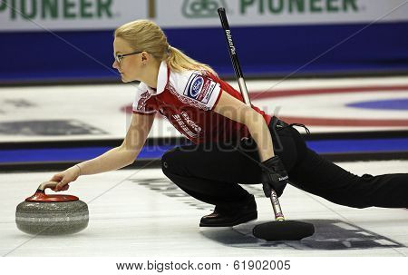 Curling Women Russia Alexandra Saitova Delivers