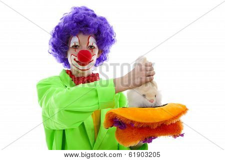 Child Dressed As Funny Clown