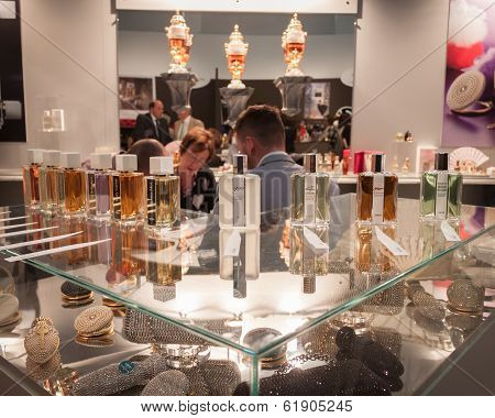 Perfume Bottles At Esxence 2014 In Milan, Italy