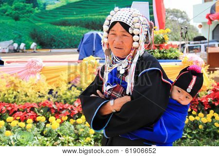 old women in traditional dress in northern Thailand