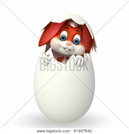 Cute easter bunny with inside egg