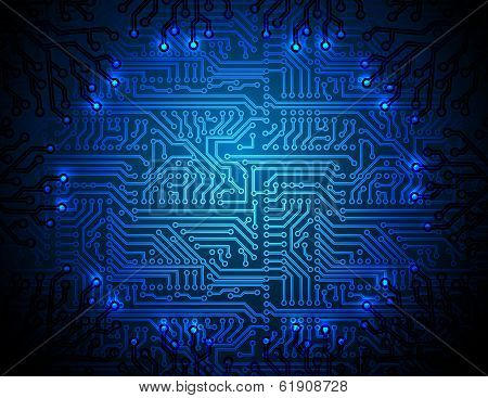 Vector circuit board background