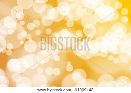 Blurred gold sparkles