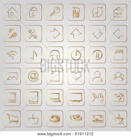 Vector set of flat icons for e-commerce web site