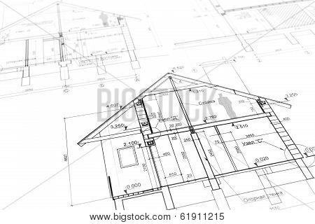 New Home Plan Blueprint