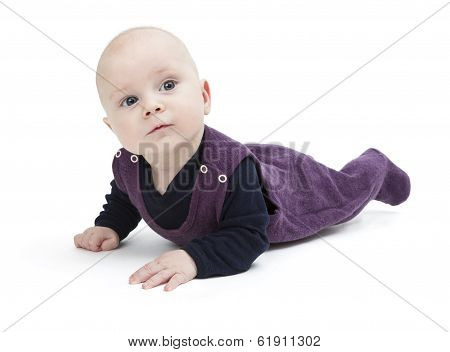 Toddler Isolated On Floor