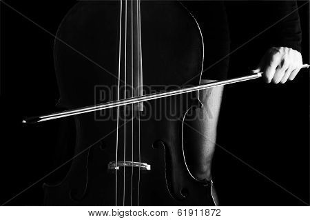 Bowing a Cello With Selective Light