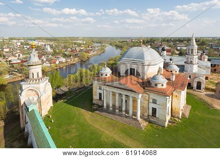 Boris and Gleb's cathedral in Borisoglebsky Monastery, Torzhok the Tver region