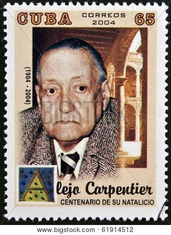 CUBA - CIRCA 2004: A stamp printed in Cuba shows Alejo Carpentier circa 2004