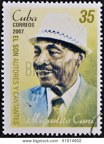 CUBA - CIRCA 2007: A stamp printed in cuba shows Miguelito Cuni
