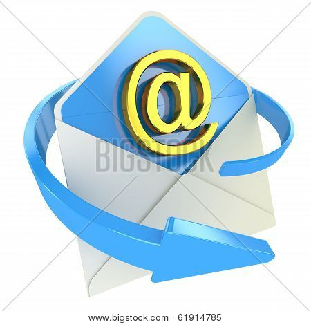 E-mail Concept Icon Isolated On White Background