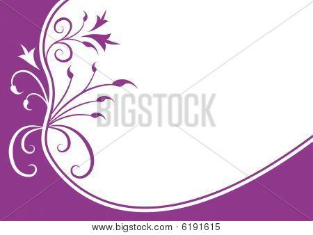 Floral violet frame