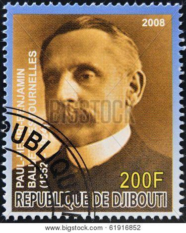 DJIBOUTI - CIRCA 2008: stamp printed in Djibouti shows Paul Henri Benjamin