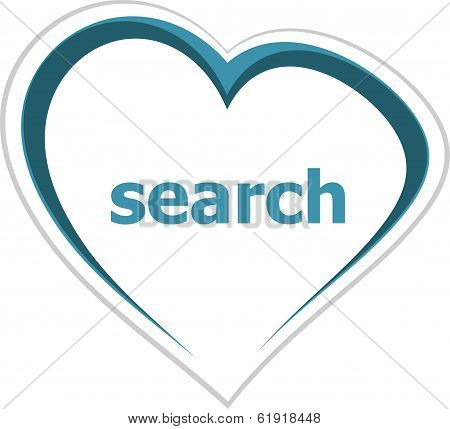 Internet Concept, Search Word On Love Heart
