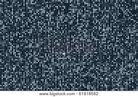 Silver seamless shimmer background with shiny silver and black paillettes. Sparkle glitter techno background. Glittering sequins club screen. Abstract technology background,