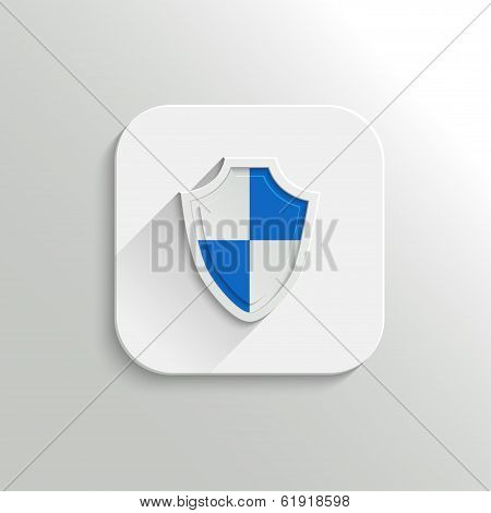 Guardian shield icon - vector flat app button