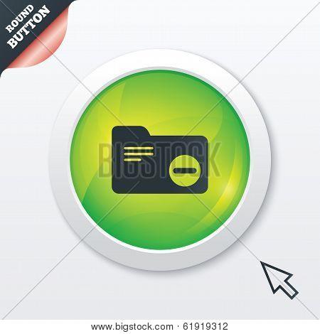 Delete document folder sign. Accounting binder.