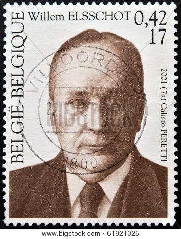 BELGIUM - CIRCA 2001: A stamp printed in Belgium shows Willem Elsschot circa 2001