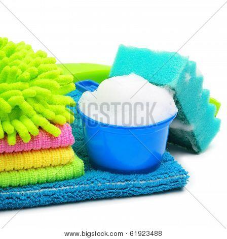 Foam, Suds, Sponge, Microfibre, Towels, Napkins