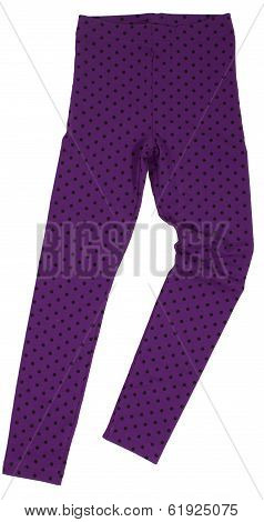 Polka-dot sweatpants isolated on white