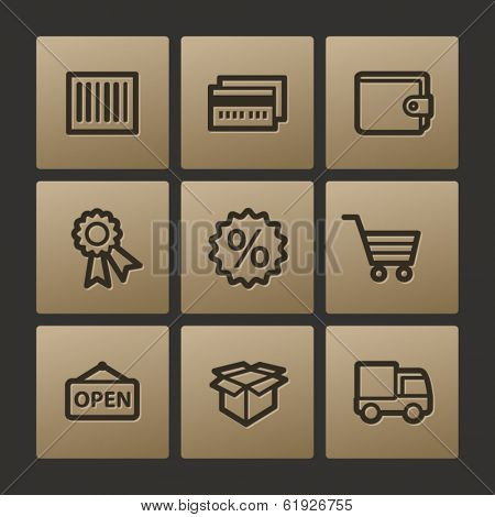 Shopping web icons, buttons set
