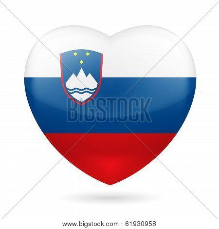 Heart icon of Slovenia