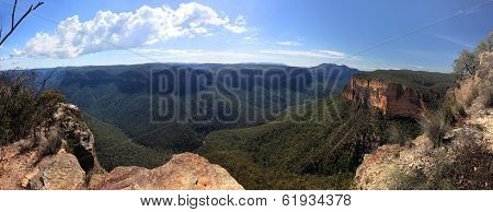 Grose Valley Blue Mountains Australia Panorama