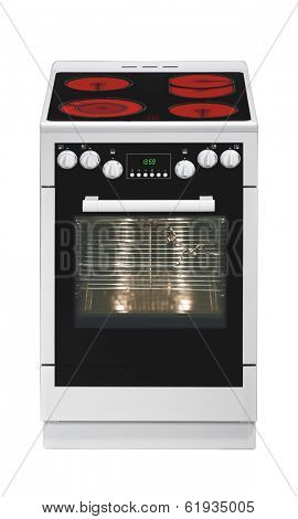 Modern stove isolated on white background