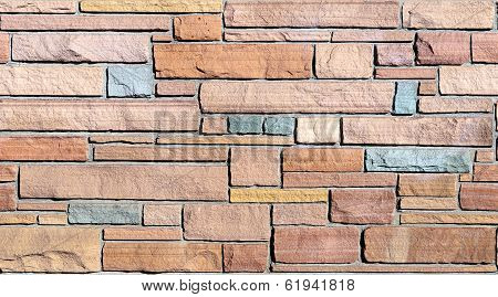Seamless Flagstone Wall Background
