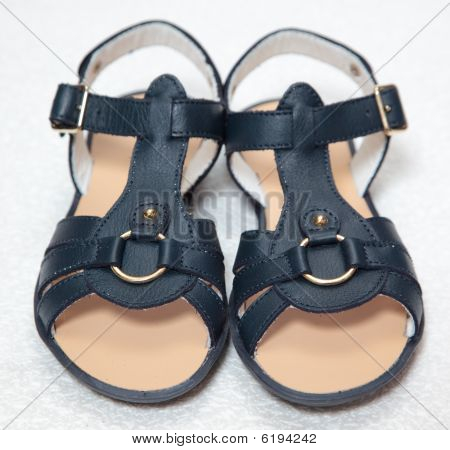 Magnificent Dark Blue Children's Sandals