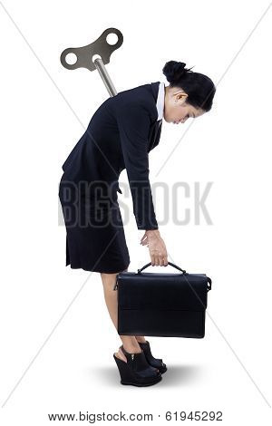 Businesswoman Needing Recharge