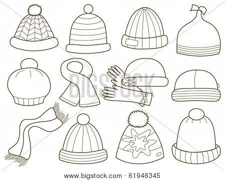 collection of caps (coloring book)