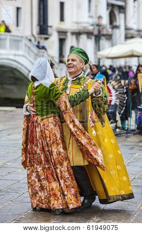 Venetian Couple Dancing
