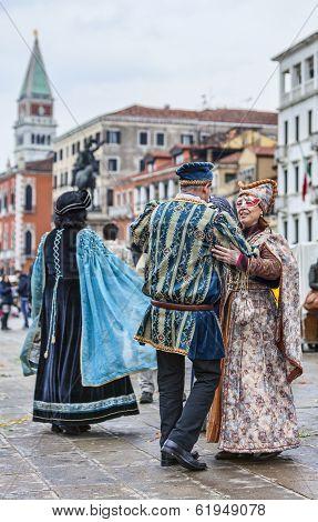 Venetian Couples Dancing