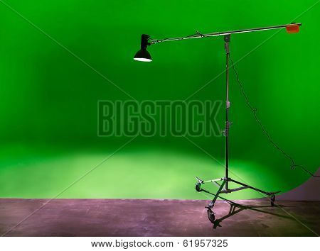 Chroma Key In Large Photostudio