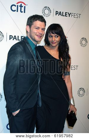 LOS ANGELES - MAR 22:  Joseph Morgan, Persia White at the PaleyFEST 2014 -