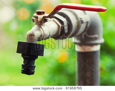 Rusty Garden Faucet