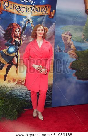 LOS ANGELES - MAR 22:  Christina Hendricks at the Pirate Fairy Movie Premiere at Walt Disney Studios Lot on March 22, 2014 in Burbank, CA