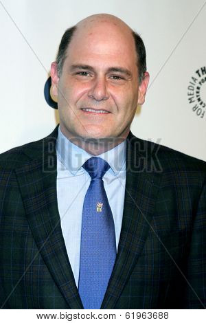LOS ANGELES - MAR 21:  Matthew Weiner at the PaleyFEST 2014 -