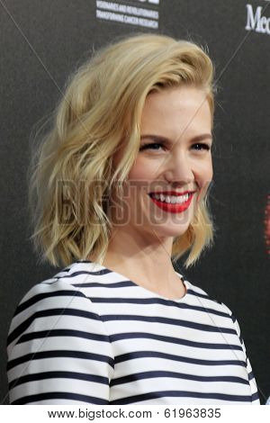 LOS ANGELES - MAR 20:  January Jones at the 2nd Annual Rebels With A Cause Gala at Paramount Studios on March 20, 2014 in Los Angeles, CA