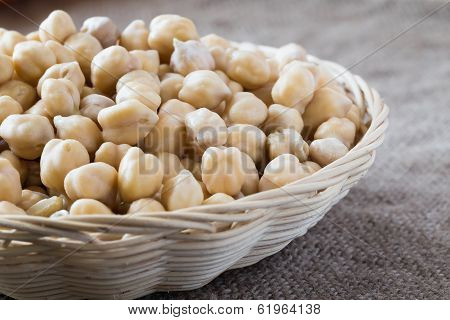 Chickpeas In A Basket