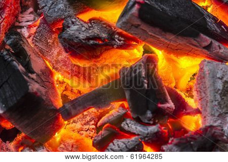 Charcoal Burn Fire Background