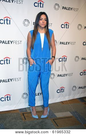 LOS ANGELES - MAR 23:  Chloe Bennet at the PaleyFEST 2014 -