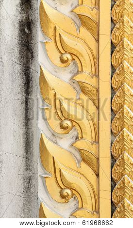 Thai Style Sculpture Art On Door