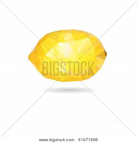Graphic Lemon Yellow Triangle