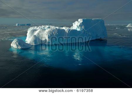 Antarctic Iceberg With Underwater Ice