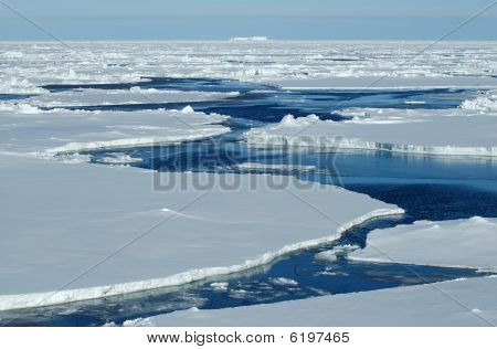 Open Water With Pack Ice
