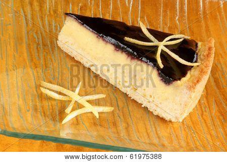 Blueberry Marmalade And Custard Cream Tart