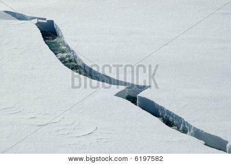Eis-Sprung